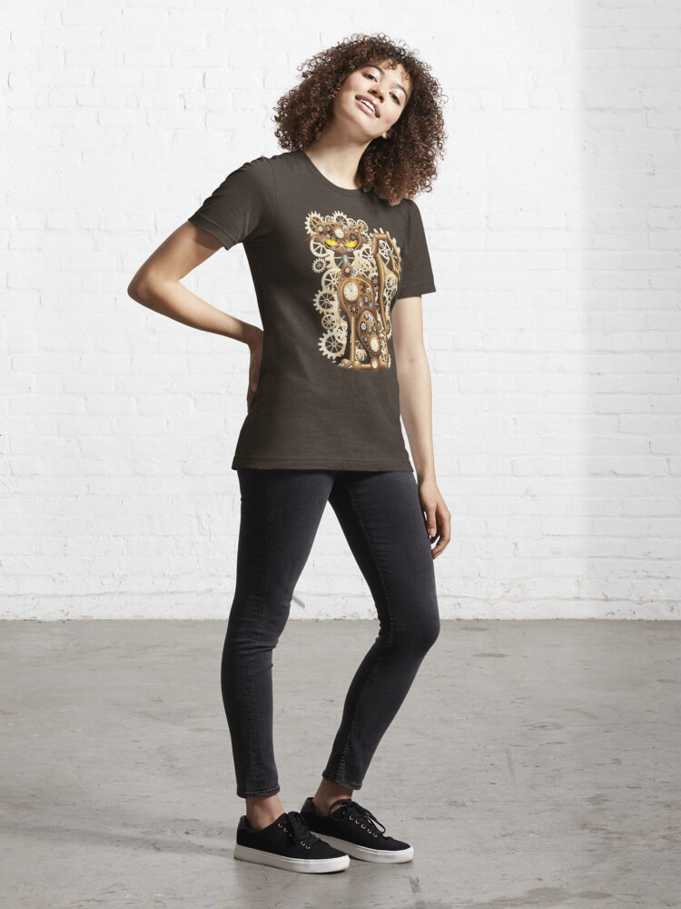 Alternate view of Steampunk Cat Vintage Style Essential T-Shirt