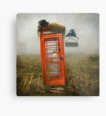 Phonebox Cottage Metal Print