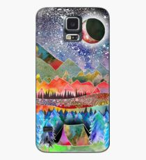 Camping under the moon Case/Skin for Samsung Galaxy