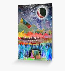 Camping under the moon Greeting Card