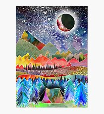 Camping under the moon Photographic Print