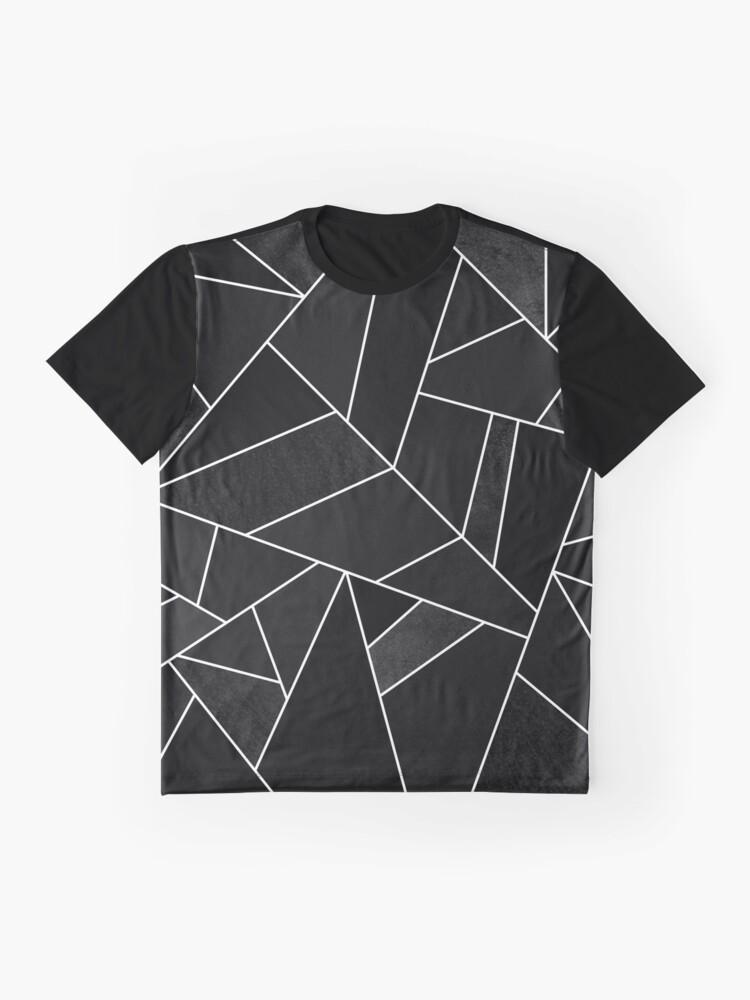 Alternative Ansicht von Schwarzer Stein Grafik T-Shirt