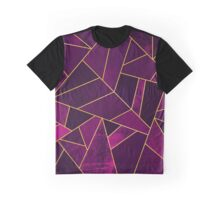 Purple Stone / Gold Lines Graphic T-Shirt