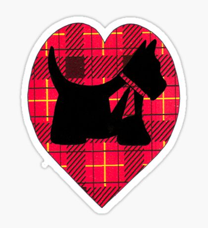 Tartan Scottie T~Shirt Sticker