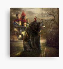 """""""A Bear Who Carried A Kingdom"""" Canvas Print"""