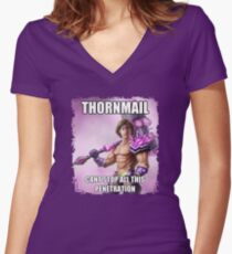 Thormail <3 Women's Fitted V-Neck T-Shirt
