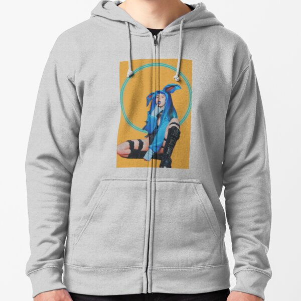 Relax and Point at the Blue Tongue Zipped Hoodie