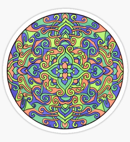 Kaleidoscope blues Pattern Sticker