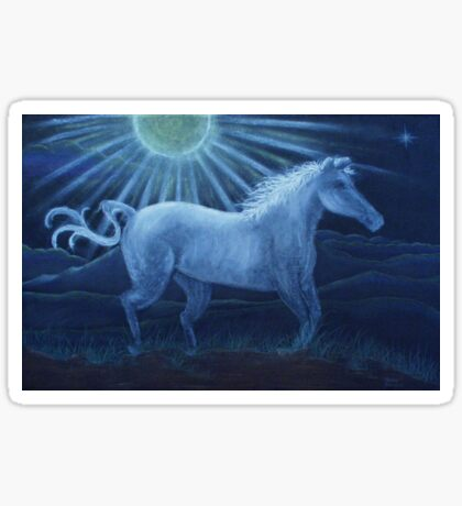Harvest Moon White Horse Sticker