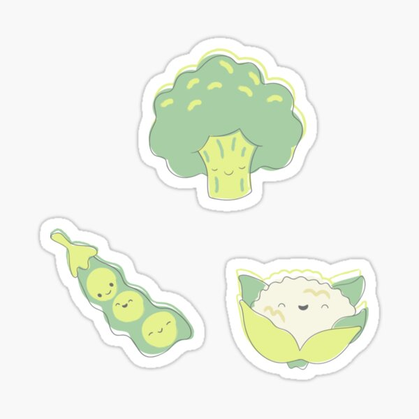 Cute vegetable stickers Sticker