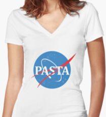 PASTA Women's Fitted V-Neck T-Shirt