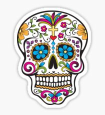skull white Sticker