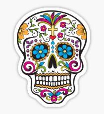 skull white Sticker