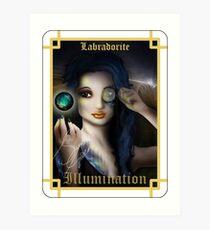 Gemstone Oracle Card - Illumination Art Print