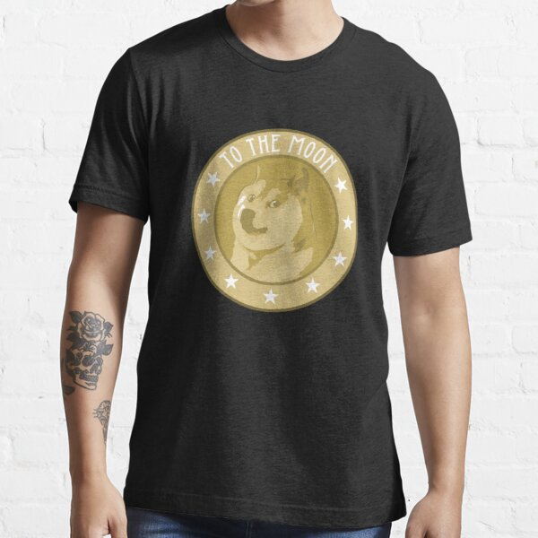 Dogecoin To The Moon Hodl Crypto Currency Essential T-Shirt
