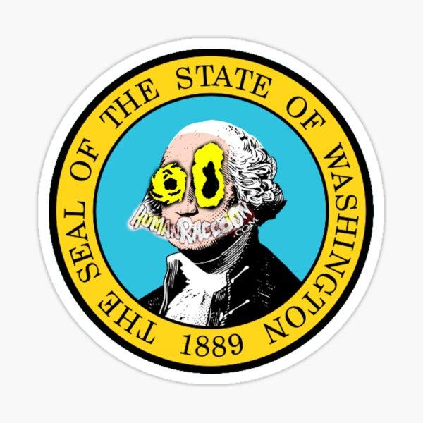 Human Raccoon - Washington Sticker