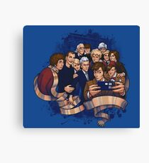 Doctor Who Selfie Canvas Print