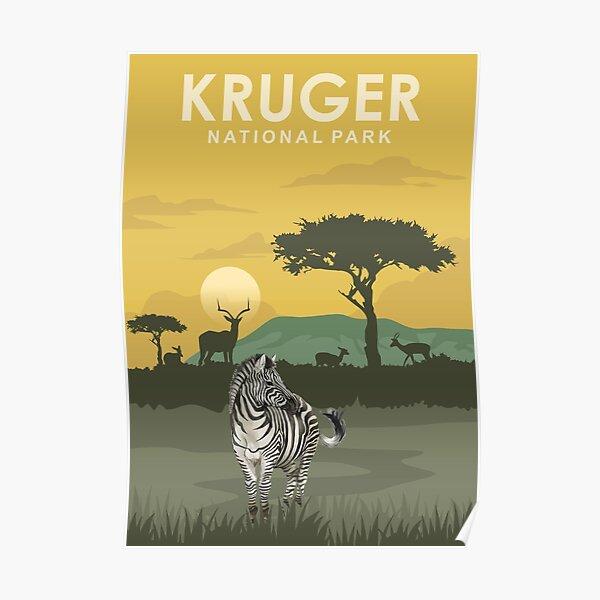Kruger National Park Travel Poster South Africa Poster