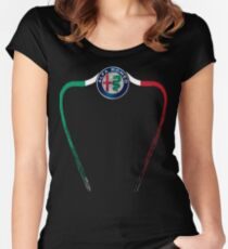 Alfa of Birmingham Tricolore Women's Fitted Scoop T-Shirt