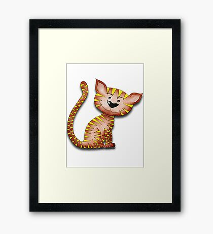 Purrnickerty the Cat - Just sitting Framed Print