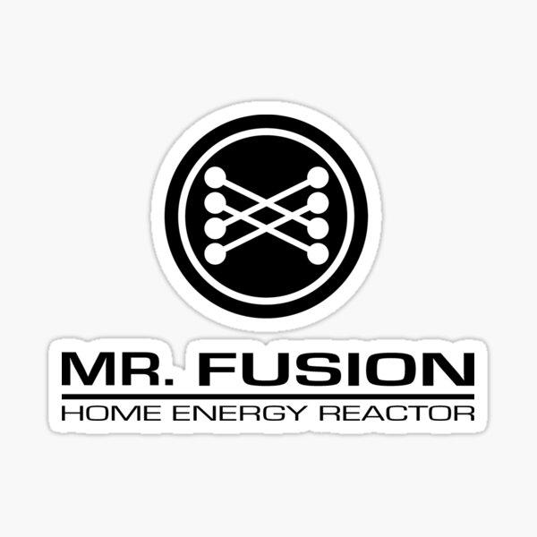 abasteciendo todas sus necesidades de fusión nuclear. De la trilogía de Regreso al Futuro Pegatina