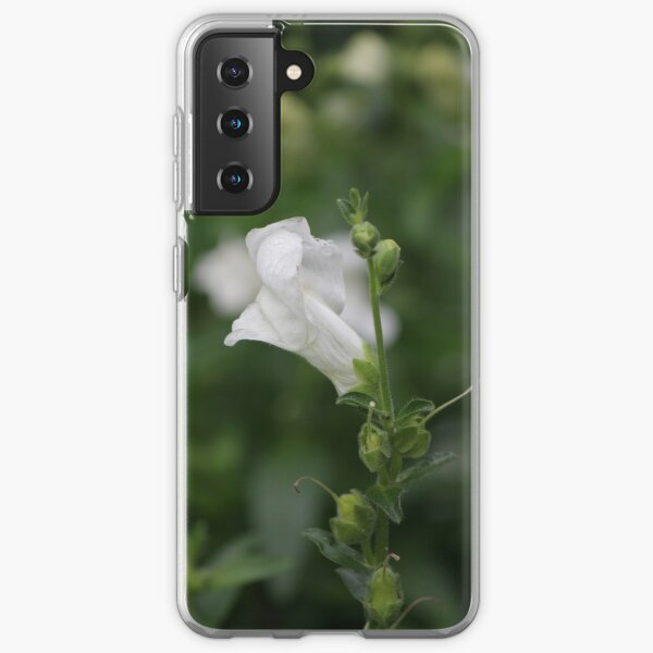White Snapdragon in Rain Samsung Galaxy Soft Case
