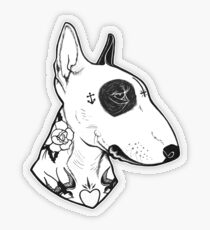 Tätowierter Bullterrier Transparenter Sticker