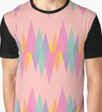 Geo Fire in Pink Graphic T-Shirt