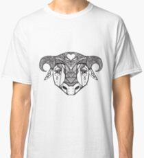 Authentic ethnic illustration with natural ornaments, animals Classic T-Shirt
