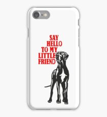 Little big dog, say hello iPhone Case/Skin