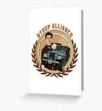 Steep Alliance [Stiles&The Jeep] Greeting Card