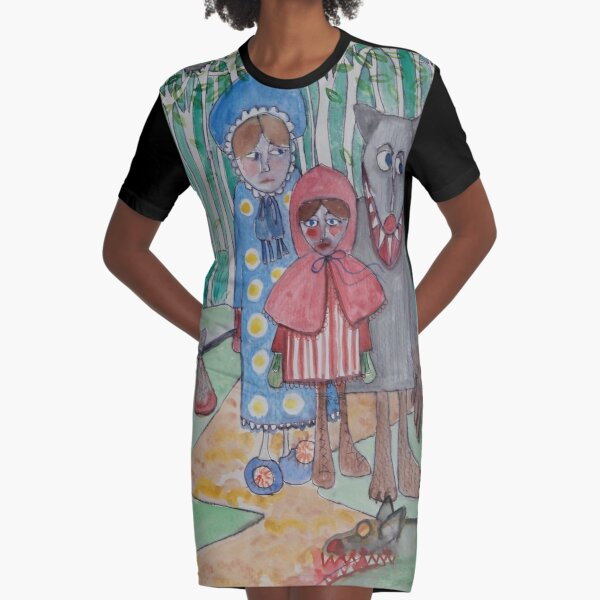 Red Riding Hood by Debra Phillips Graphic T-Shirt Dress