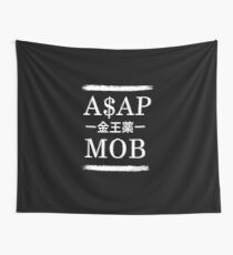 Asap Rocky Mob Wall Tapestry