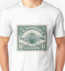 Stamp - USA - Airmail - 8 Cents Unisex T-Shirt