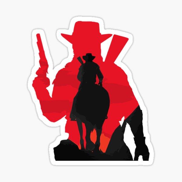 cowboy - arthur morgan - grim reaper - army of darkness - dia de los muertos - groovy - Stratocumuliform - Cirriform - Cumuliform - Mid-level - Towering vertical Sticker