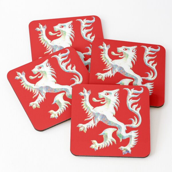 White Lion of Andor - Wheel of time  Coasters (Set of 4)