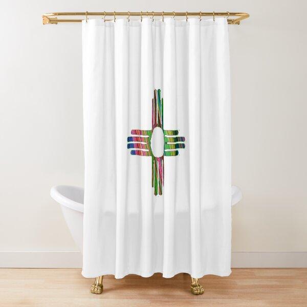 patterns kaleidoscope Zia Shower Curtain