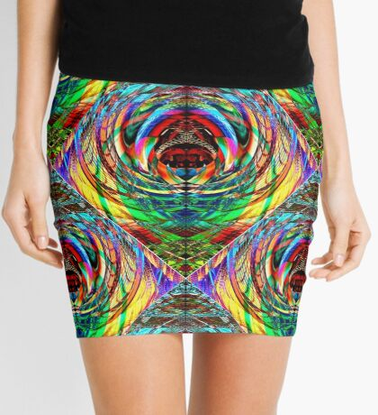 """""""Scarab"""" abstract graphic pattern Mini Skirt"""