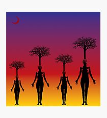 Women Forest Photographic Print