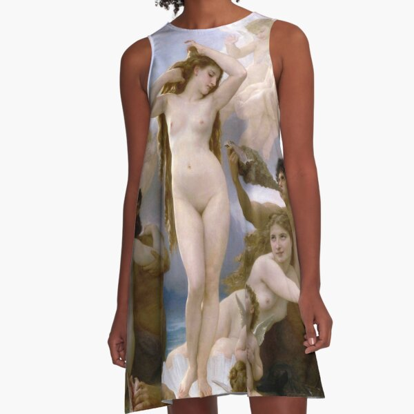 The Birth of Venus (Bouguereau) A-Line Dress