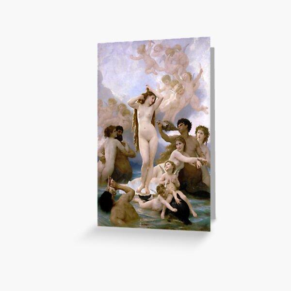The Birth of Venus (Bouguereau) Greeting Card