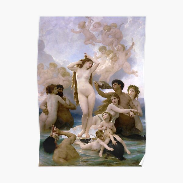 The Birth of Venus (Bouguereau) Poster