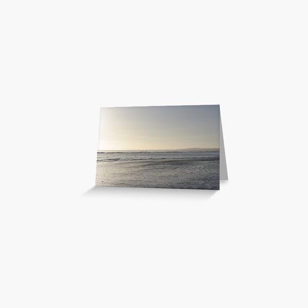 Irish Coast Calm Waves in Winter Greeting Card