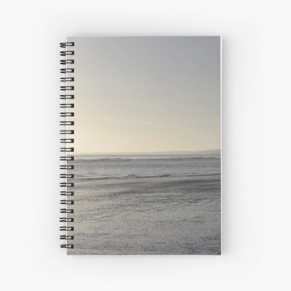 Irish Coast Calm Waves in Winter Spiral Notebook