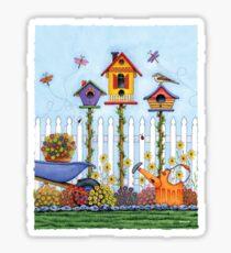 Trio of Birdhouses Sticker