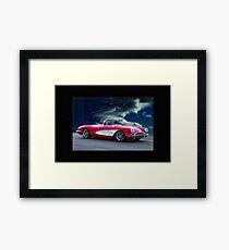 1959 Chevrolet Corvette Convertible w Border Framed Print