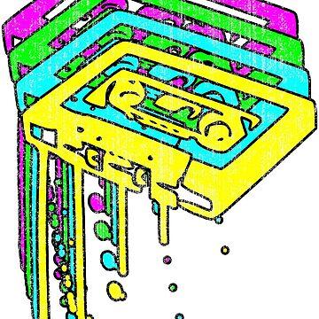 Cassette Neon Grunge  by CreativoDesign