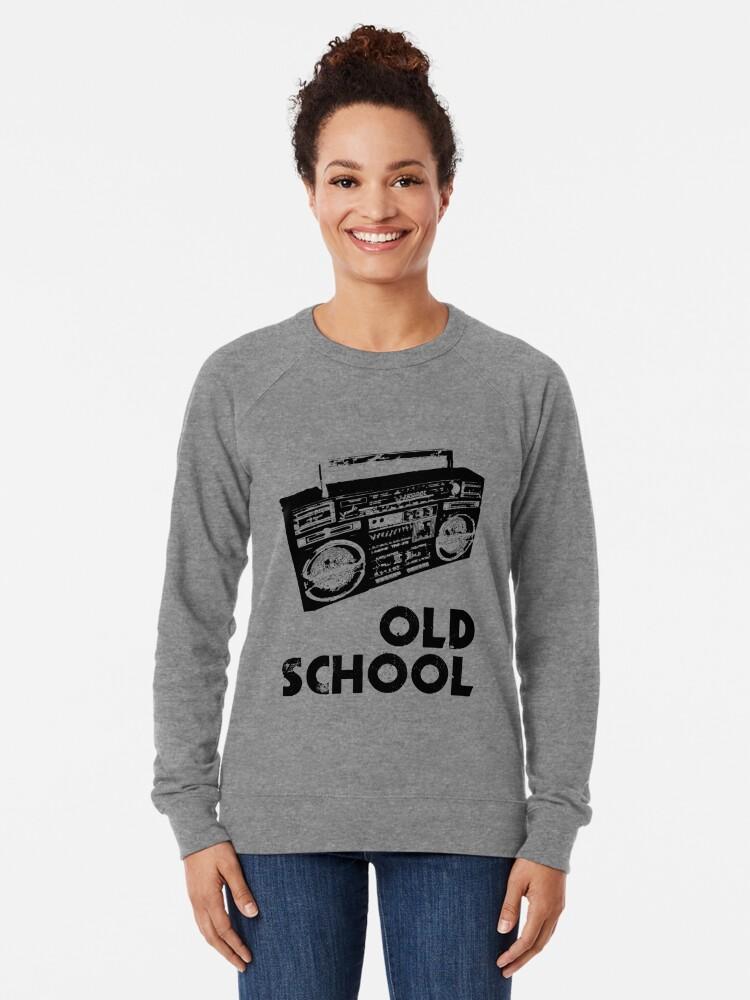 Alternate view of Old School - Boom Box  Lightweight Sweatshirt
