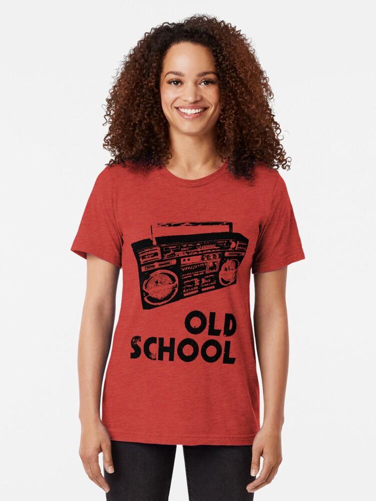 Alternate view of Old School - Boom Box  Tri-blend T-Shirt