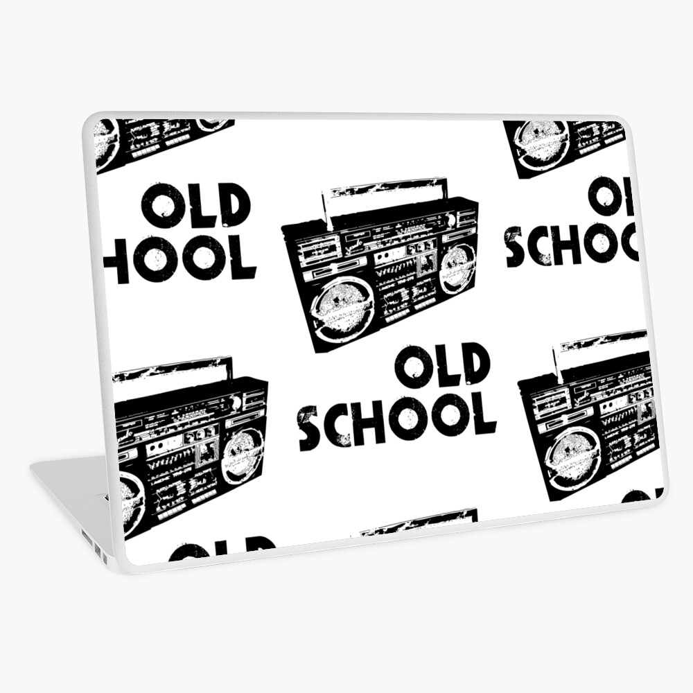 Old School - Boom Box  Laptop Skin